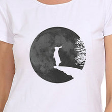 Load image into Gallery viewer, Rabbit and Moon Print Fashion Summer Women Tops T-shirts Casual O-neck Short Sleeves Graphic Tees Blouse