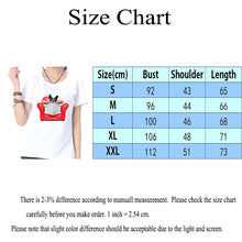 Load image into Gallery viewer, Sofa Dog Print Fashion Summer Women Top Shirt White Casual Loose O-neck Short Sleeves Blouse T-shirt Graphic Tee
