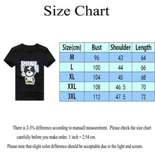 Load image into Gallery viewer, Thunder Bear Print Summer Fashion Men Balck Cotton Tops Shirts Casual O-neck Short Sleeves T-shirts Graphic Tees