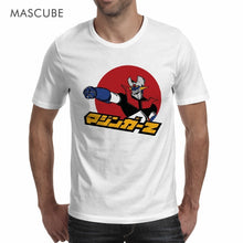 Load image into Gallery viewer, MASCUBE Anime Japan White T Shirt Classical Character Mazinger Z Top White T Shirt Short Sleeves Cool Men Tees Men Cotton Tshirt