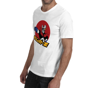 MASCUBE Anime Japan White T Shirt Classical Character Mazinger Z Top White T Shirt Short Sleeves Cool Men Tees Men Cotton Tshirt