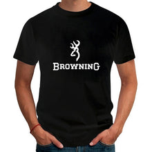 Load image into Gallery viewer, Men T Shirts Fashion 2017 Browning Firearms Logo Graphic Printed T-Shirt  Summer Casual Short Sleeve Tops Tees