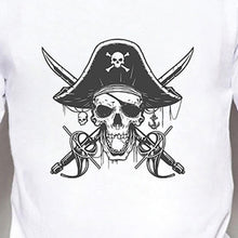 Load image into Gallery viewer, Pirate Skull Print Cool T Shirt Tops Men Summer Fashion Casual O-neck Short Sleeves White Modal Shirts Graphic Tee