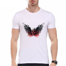 Load image into Gallery viewer, 3d Weapons Wing Skull Print Cool Men Summer Fashion Tops Shirts Casual O-neck Short Sleeves White Cotton T-shirts Graphic Tees