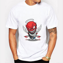 Load image into Gallery viewer, Angel Satan Print Cool Summer Casual Fashion Men Tops T Shirt O-neck Short Sleeves White Cotton Shirts Graphic Tees