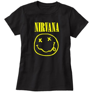 2017 Fashion Harajuku Casual Women's T-Shirts Punk Rock NIRVANA Bts Cotton tumblr tshirt Casual Hipster For Famale Top