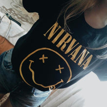 Load image into Gallery viewer, 2017 Fashion Harajuku Casual Women's T-Shirts Punk Rock NIRVANA Bts Cotton tumblr tshirt Casual Hipster For Famale Top