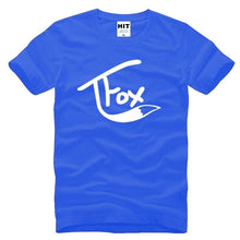 Load image into Gallery viewer, Short Sleeve Tops Cotton Funny Tee Shirt Tanner Fox Print Shirts Summer