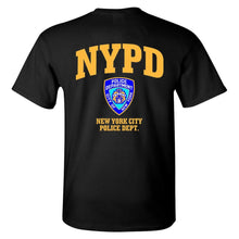 Load image into Gallery viewer, New York Police Department Nypd Black Graphic Tee Shirt