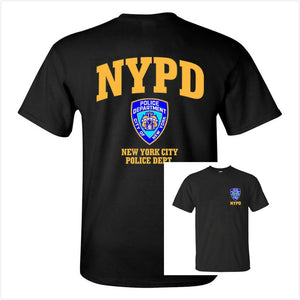 New York Police Department Nypd Black Graphic Tee Shirt