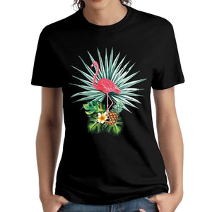 Fashion Flamingo Pineapple Mens Cotton Casual T-shirt Cool