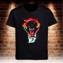 Load image into Gallery viewer, Fashion Colorful Bulb Mens T-shirt Cotton Casual O-neck Shirt Cool