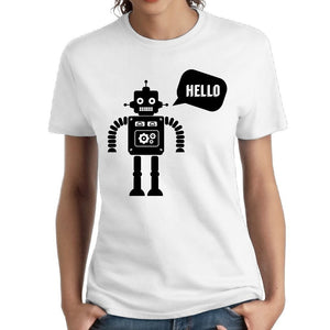 Fashion Robot Creative Mens Cotton Casual T-shirt Cool