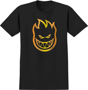 Men Spitfire Skateboard T-Shirt Bighead Black