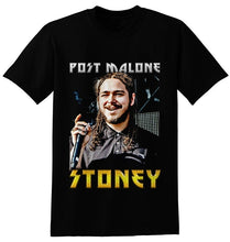 Load image into Gallery viewer, Men's Post Malone Stoney GOD HIP HOP RAP Black T Shirt