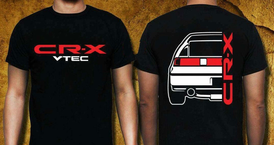 CRX VTEC T-SHIRT Graphic Tee Cool Tops O Neck T Shirts for Men