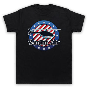 Santini Air Helicopter 1980s Tv T-shirt Mens