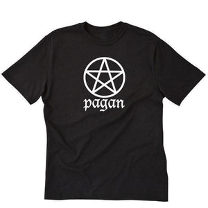 Pagan T-shirt Wicca Wiccan Witch Pentagram Nature Short Sleeve Tee Shirt