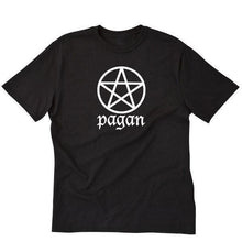 Load image into Gallery viewer, Pagan T-shirt Wicca Wiccan Witch Pentagram Nature Short Sleeve Tee Shirt