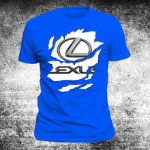 Load image into Gallery viewer, Fashion Lexus Car Men's Round Neck Short Sleeves Cotton T-shirt