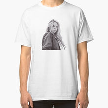 Load image into Gallery viewer, Black and White Billie Eilish New Men's Fashion Short Sleeve T-shirt Size:s/m/l/xl/2xl/3xl