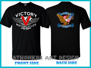 Victory Motorcycles Polaris Freedom Cruiser 106 Men's T-shirt