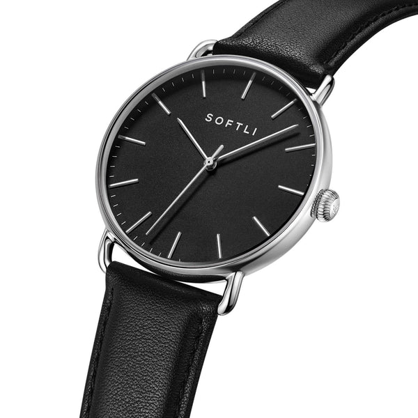SOFTLI Paradigm 40mm Minimalist Watch for Men | Stainless Steel/Black