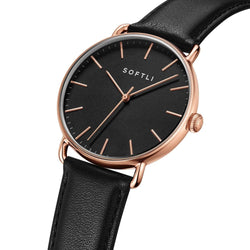 SOFTLI Paradigm 40mm | Minimalist Watch for Men | Rose Gold/Black