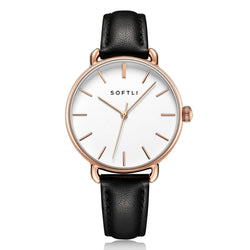 SOFTLI Paradigm 34mm | Minimalist Watch for Women | Rose Gold/Black