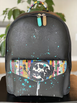 Austin Reed X Softli Hand Painted Leather Backpack