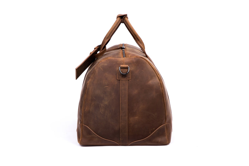 SOFTLI Leather Duffle Bag- Brown