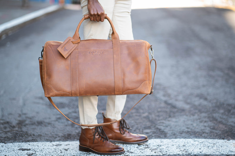 SOFTLI Leather Duffle Bag