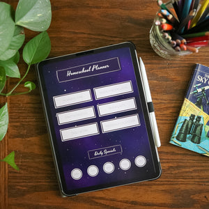 Digital Homeschool Organizer: Starlight Theme