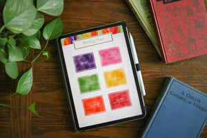 Digital Homeschool Organizer: Tulip Field Theme