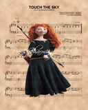 Brave, Merida Touch The Sky Sheet Music Art Print