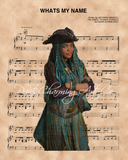 Descendants, Uma over What's My Name Sheet Music Art Print