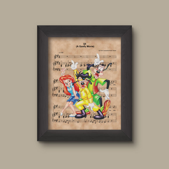 A Goofy Movie, I2I Eye to Eye Sheet Music Art Print