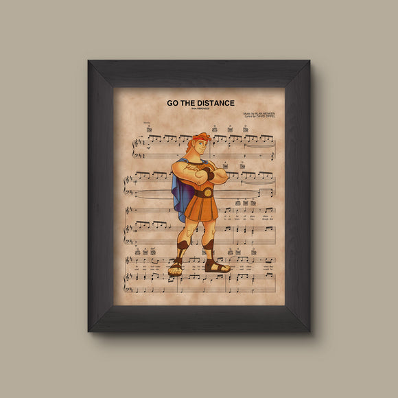 Hercules, Go The Distance Sheet Music Art Print