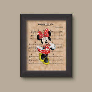 Minnie Mouse, Minnie's You Hoo Sheet Music Art Print