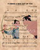Mulan I'll Make A Man Out Of You Sheet Music Art Print