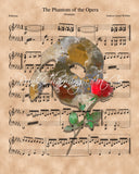 Phantom of the Opera, Sheet Music Art Print