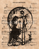 Nightmare Before Christmas, Simply Meant to Be Sheet Music Art Print