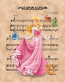 Sleeping Beauty, Aurora Sheet Music Art