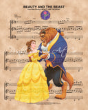 Beauty and the Beast Sheet Music Print
