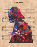 Star Wars, Darth Vader Sheet Music Art Print