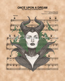 Sleeping Beauty, Maleficent Sheet Music Art
