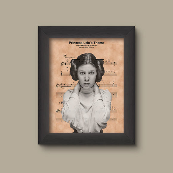 Disney Star Wars Princess Leia Organa Sheet Music Art Print