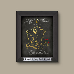 Disney Beauty and the Beast Wedding Gift, Disney Wedding Gift