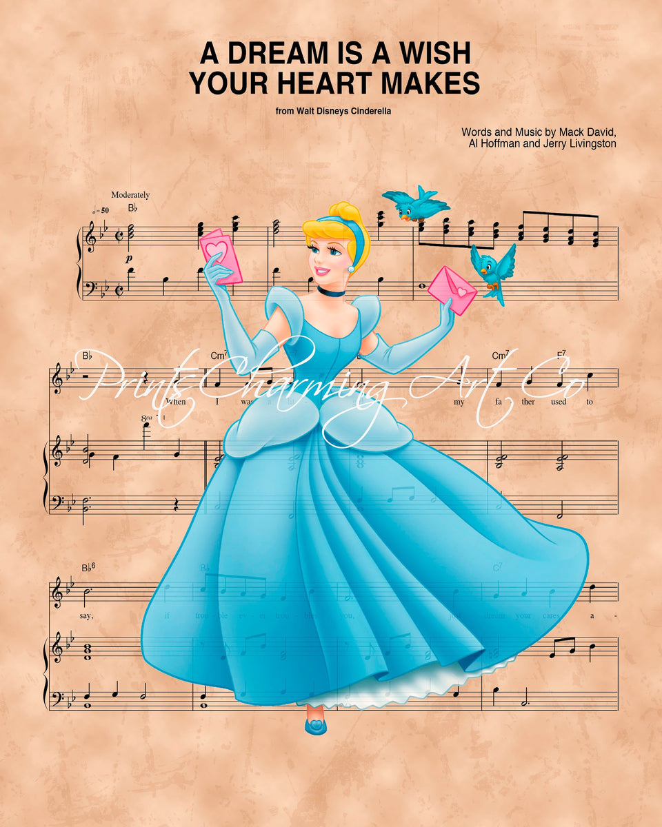 Cinderella, A Dream Is A Wish Your Heart Makes Sheet Music ... A Dream Is A Wish Your Heart Makes Images