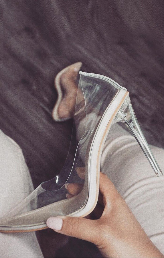 Clear Perspex Stiletto Heel – Alexis